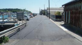 平成21年 渡波町三・幸町海岸線道路改良工事
