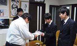 女川高等学園 バスケット部 様のご訪問がありました。