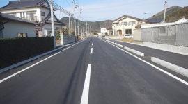 鹿妻山渡波町一丁目線道路改良(その3)工事